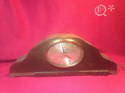 Old Art Deco Wood Mantel Clock  General Electric 414 Westminster Chime