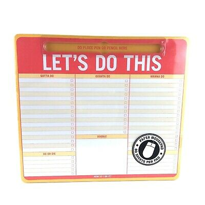 Knock Knock Let's Do This Pen-To-Paper Mousepad Planner (B3)