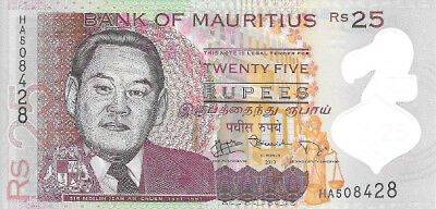 Mauritius P-64  25 Rupees 2013 UNC **POLYMER**