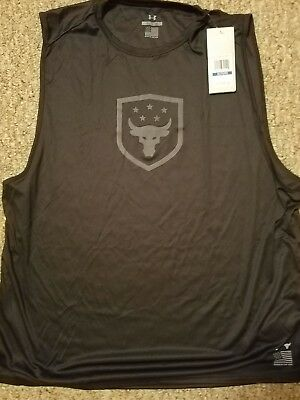 7860c947fdd85 UNDER ARMOUR® x PROJECT ROCK MENS XL BRAHMA BULL MUSCLE TANK MADE IN USA  1328340