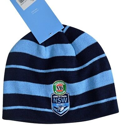 NSW Blues State of Origin Official Licensed Knit Beanie BNWT