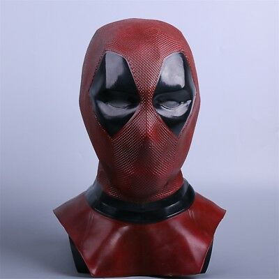 Deluxe Latex Deadpool LED Mask Cosplay Deadpool 2 Full Face Helmet Handmade Mask