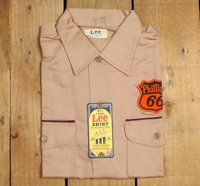 Vintage 1940s Phillips 66 Service Station Work Shirt by Lee NOS Union Made M Gas