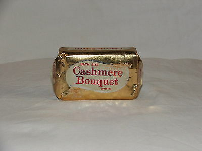 Vintage Retro Cashmere Bouquet Soap Bar In Original Gold Foil Wrapper Nice Smell