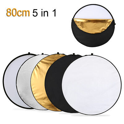 """31"""" 80cm 5 in 1 Photography Studio Multi Photo Disc Collapsible Light Reflector"""