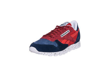 REEBOK CLASSIC LEATHER Sm V66133 Speckle Red Blue Suede Men Size 10 ... f10ac7ab1