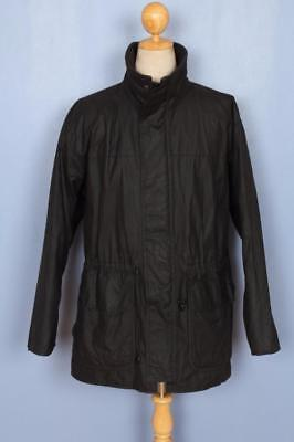 Mens BARBOUR Black WAXED Jacket Size Large