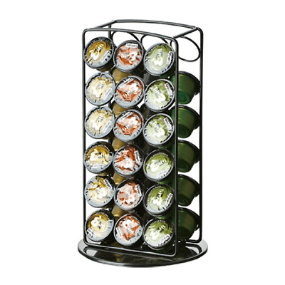 Black Coffee Pod Holder Rotating Rack Stand Storage for 36pcs Caffitaly Capsule