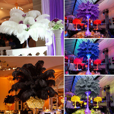 20/50X Ostrich Feather 25-30cm DIY Crafts Event Feathers Beautiful Wedding Party