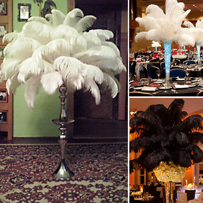 "1~100 Pc Quality Natural OSTRICH FEATHERS 11""-14"" Wedding Party Table Decoration"