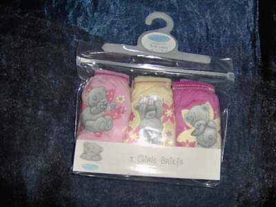 3 or 5 PAIR PACK TATTY TEDDY GIRLS BRIEFS  -AGES 3/4 - 11/12 YRS Pink/yellow