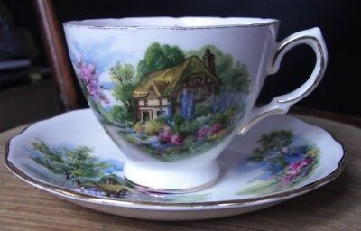 Royal Vale  Bone China Cup & Saucer, Print Inside Cup