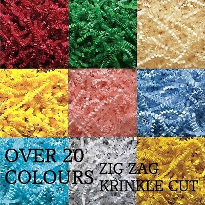 Luxury Shredded Paper krinkle Cut Zig Zag Gift Hamper Filling Shred Filler