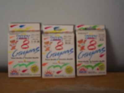 3 Boxes Vintage Zellers Department Store Zeddy Crayons - Made In Thailand