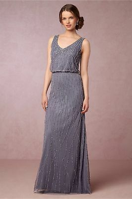 88840642dca NWT BHLDN Adrianna Papell Brooklyn Slate Sleeveless Beaded Gown Bridesmaid  sz 2