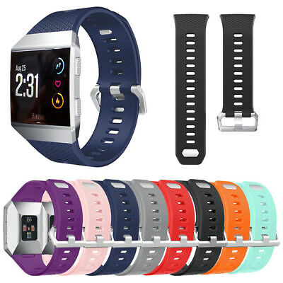 Replacement Soft Silicone Sports Band Strap with Classic Buckle for Fitbit Ionic