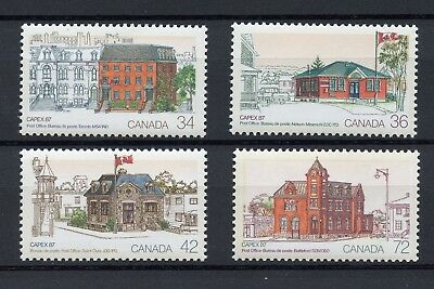 Canada Sc# 1122-1125, Capex 1987 Post Offices Complete Set Of 4 Stamps