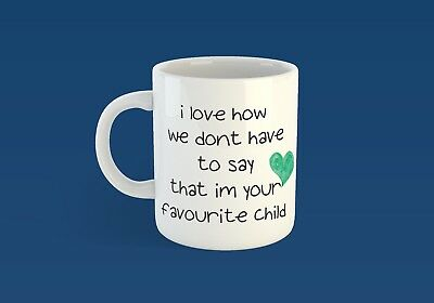 Favourite child cup Fathers day Dad present gift for him her mothers day mum mug