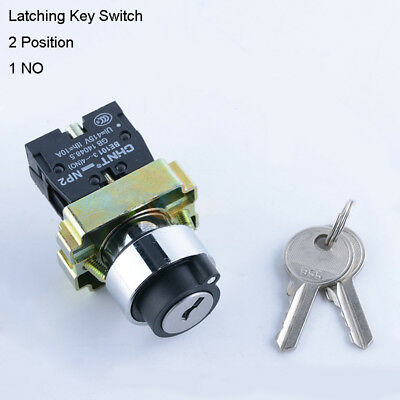 Security Lock Key Operated Rotary Switch 2 Position 1 NO Contact Power Ignition
