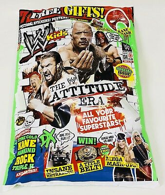 WWE Kids Magazine #134 With 7 FREE GIFTS INSIDE! (BRAND NEW)