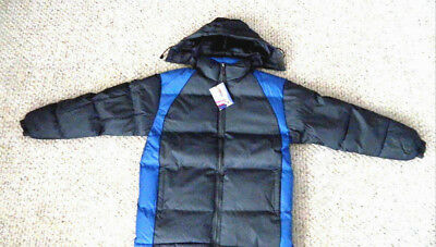 nwt mens winter jacket hood  puffer excellent insulation $99 sport gray large