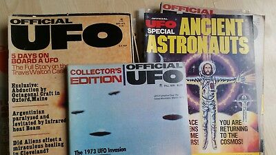 15 issues of New York-published OFFICIAL UFO magazine 1975-77
