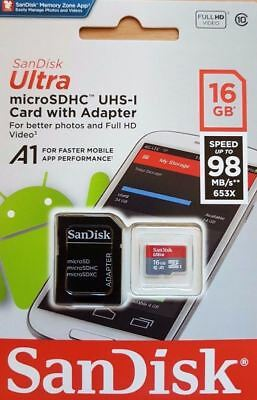 For Nokia 3 Mobile Phone 16GB SanDisk Micro SD Memory Card Class 10 Full HD