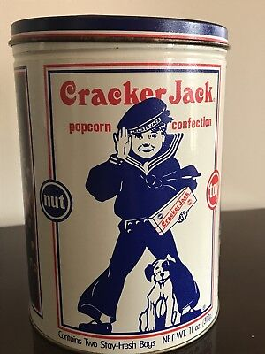 Vintage Cracker Jack Advertising Tin Limited Edition Metal Canister 1990