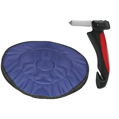 Car Cane/Flashlight and Swivel Seat Cushion - Mobility Aid Kit for Automobiles