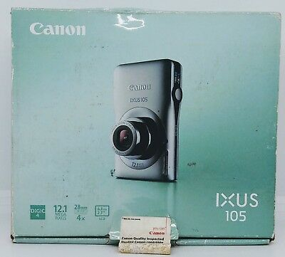 Canon IXUS 105 12.1MP Digital Camera - Silver