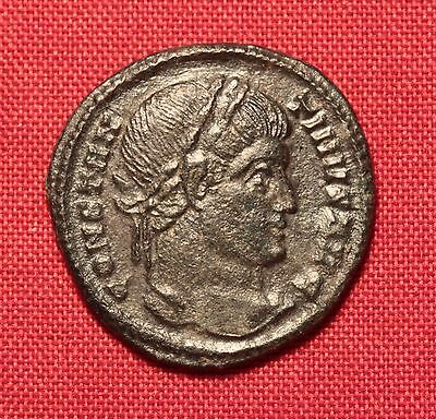 Ancient Roman Silvered Bronze Constaninus AE3 Coin, VOT XX