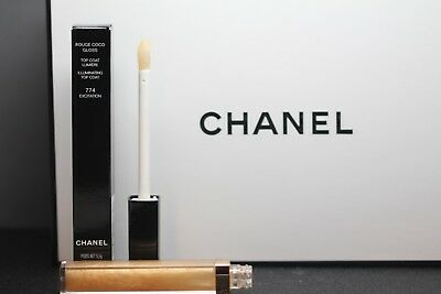 Chanel Rouge Coco Gloss  Top Coat Lumiere  N° 774 Excitation Neuf Sous Boite