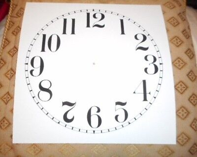 "Large Paper Clock Dial - 9"" M/T- Arabic Numerals- Matt White- Face/ Clock Parts"