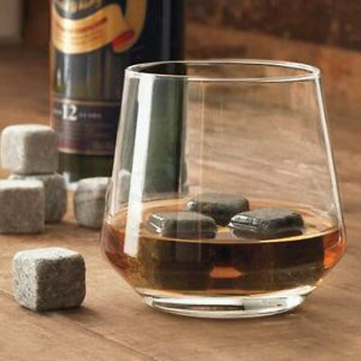 Set of 6 Gray Natural Wiskey Stones for Bourbon Scotch Whiskey Other Beverage