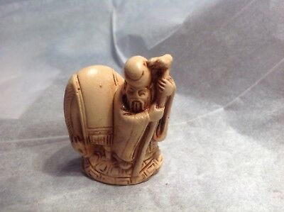 Vintage Miniature Oriental/Asian Man with Cane.. very detailed 👀