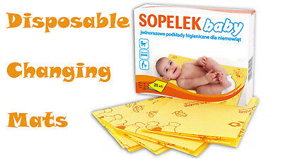 DISPOSABLE BABY CHANGING MAT UNDERPAD BED PROTECTION TRAVEL CHANGING MAT 50x30cm