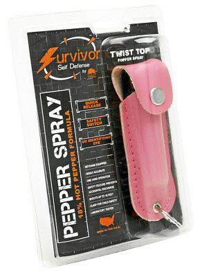 Pink Survivor Pepper Spray Wildlife Women Self Defense camping hiking protection