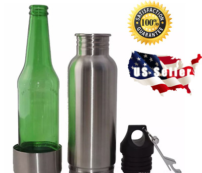12oz Stainless Steel Beer Bottle Koozie Cooler Insulator Cold Beer Keeper Holder