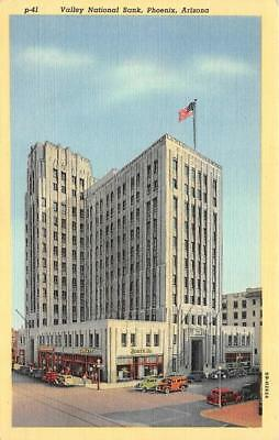 PHOENIX, AZ Arizona   VALLEY NATIONAL BANK~Santa Fe   c1940's Curteich Postcard
