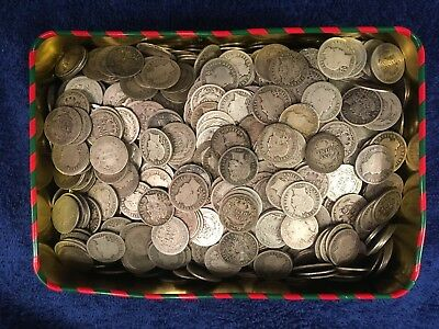 Lot Of 50 Barber 90% Silver Barber Dimes Full Roll *1892-1916* $5 Face Value
