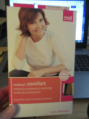 Mediven comfort 44903 15-20mmhg natural thigh high/w top band size lll