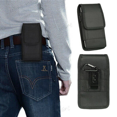 For Samsung Galaxy S7 S8 S9 iPhone XS X Nylon Vertical Holster Belt Pouch Case