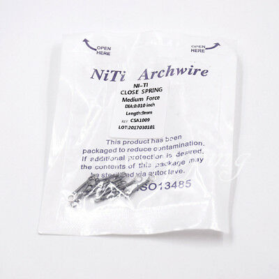 Dental Orthodontic Closed Coil Spring 9mm Niti Alloy 0.010/0.012inch 1Pack/10pcs