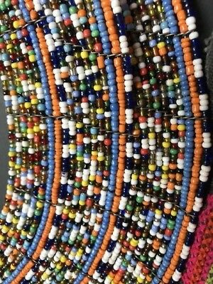 Old African Masai Tribal Beaded Necklace …beautiful display / collection item