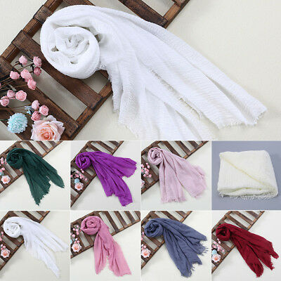 Tassels Scarf Fabric Soft Baby Photography Prop Filling Newborn Cheesecloth Wrap