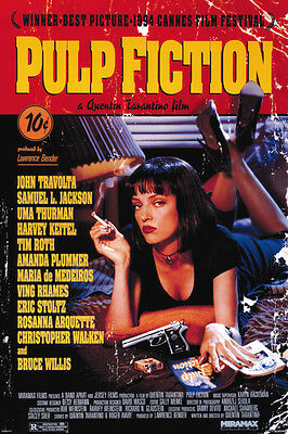 PULP FICTION UMA ONE SHEET 24x36 poster TRAVOLTA JACKSON TARANTINO KEITEL WILLIS