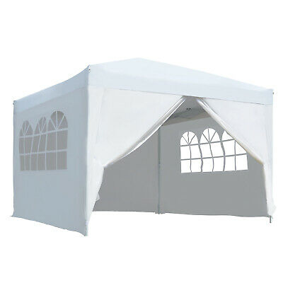 3mx3m White Pop Up Gazebo Party Tent Canopy Marquee Water Resistant Storage Bag