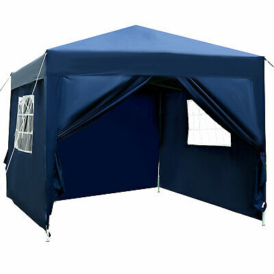Outsunny 3m x 3m Pop Up Gazebo Party Tent Canopy Marquee with Storage Bag Blue