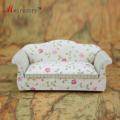 Floral patterns Cloth 1/12 Scale Dollhouse Miniature Furniture Sofa 10407