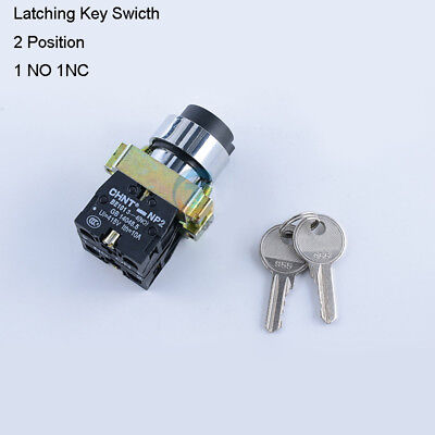 On/Off Security Key Switch Lock 2 Position 1NO 1NC Contact Keyed Power Ignition